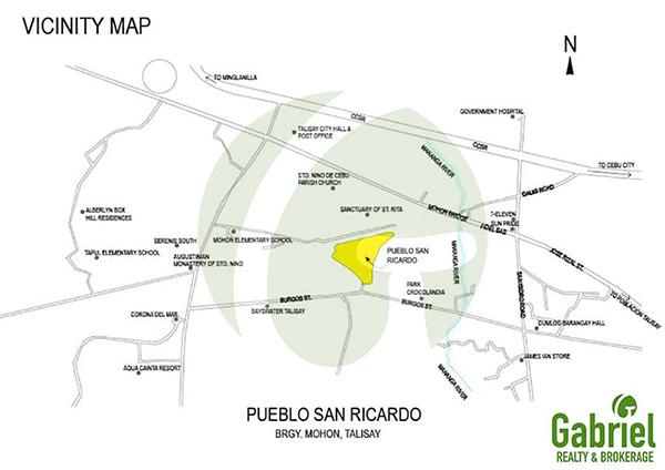 vicinity map of pueblo san ricardo