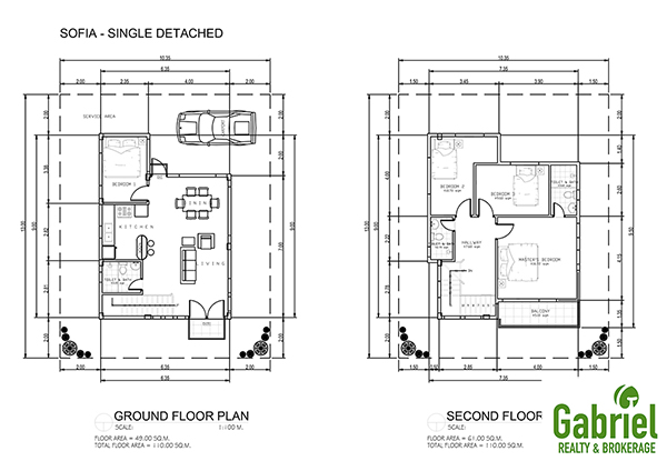 single detached floor plan
