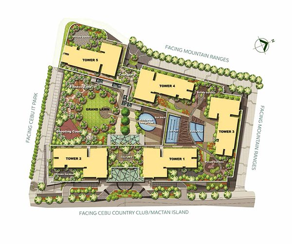master plan or site development plan of condominium in cebu it park