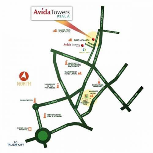 vicinity map of avida towers riala in cebu IT Park