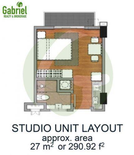 27 sqm STUDIO w/ BALCONY floor plan
