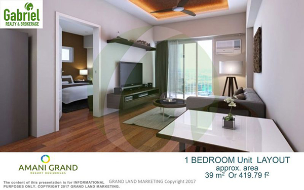 pre selling 1-BEDROOM w/ BALCONY lay out