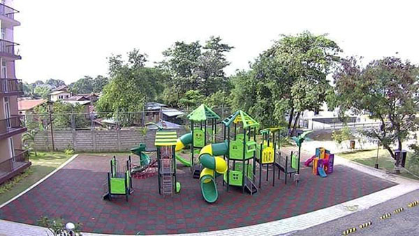 kids' playground in the amenity area