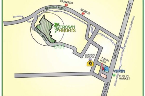 crown heights vicinity map in compostela