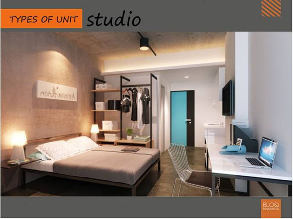 residential studio floor lay out