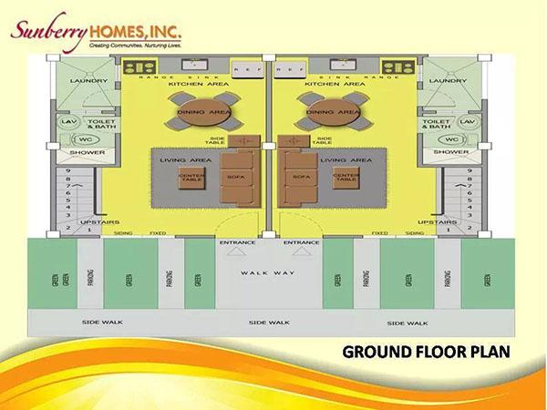 townhouse's floor plan