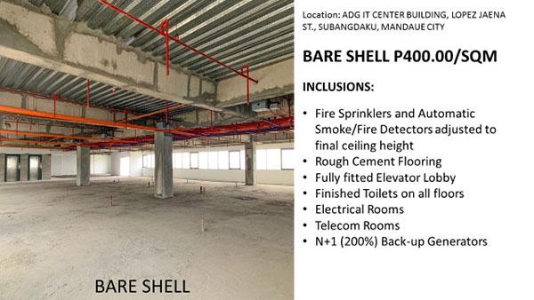 bare shell for lease in mandaue