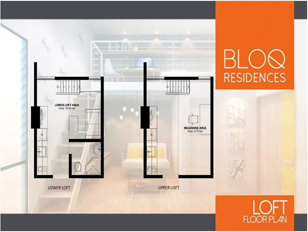 loft type unit floor plan