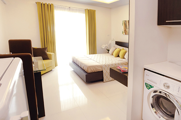 fully furnished studio model unit