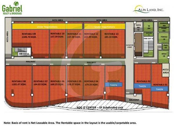 floor plan of ADG IT Center Mandaue