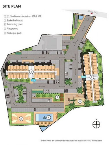 site development plan or master plan of the condo