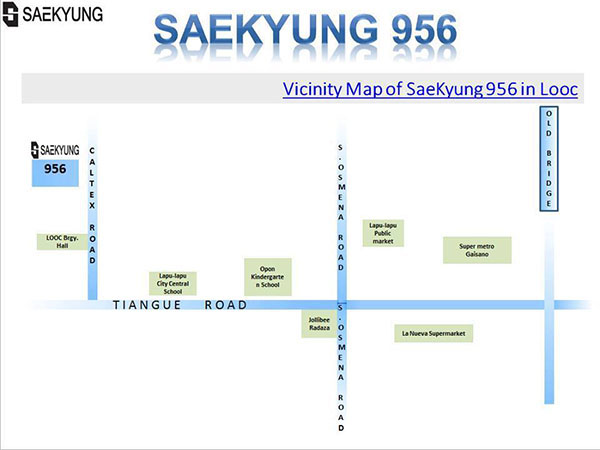 vicinity map of saekyung 956 in Looc, Lapu-Lapu City, Cebu