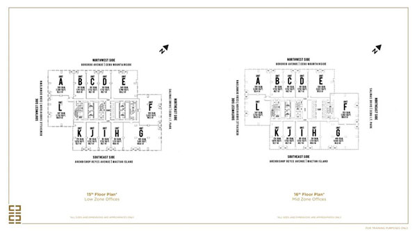 typical floor plans of the building
