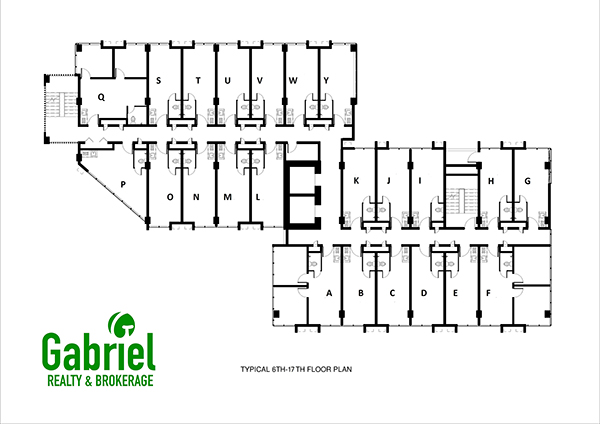building floor plan 6th to 17th floor