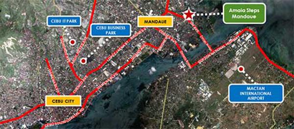 the location of amaia steps mandaue