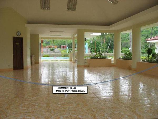 multi purpose hall of the subdivision