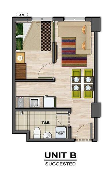1 bedroom floor plan in amaia steps mandaue