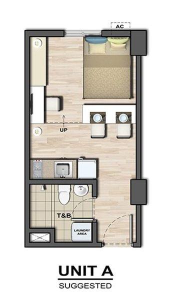 residential studio floor plan