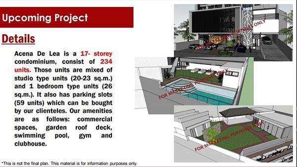 project details of acena de lea condominium in capitol, cebu city