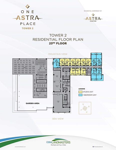 typical floor plan in the 23rd floor