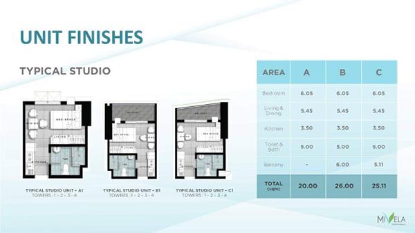 studio with balcony floor plan