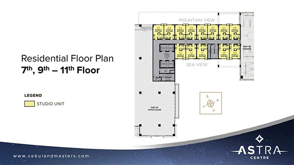 typical floor plan in the 7th to 11th floors
