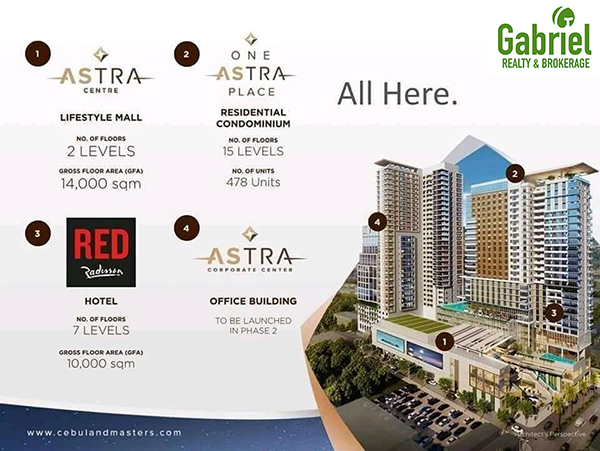 the buildings in one astra place condominium