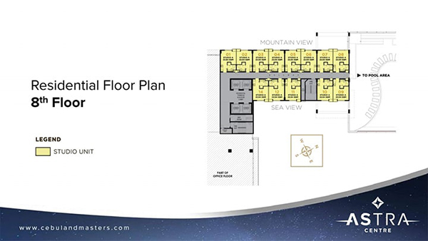 residential floor plan in the 8th floor