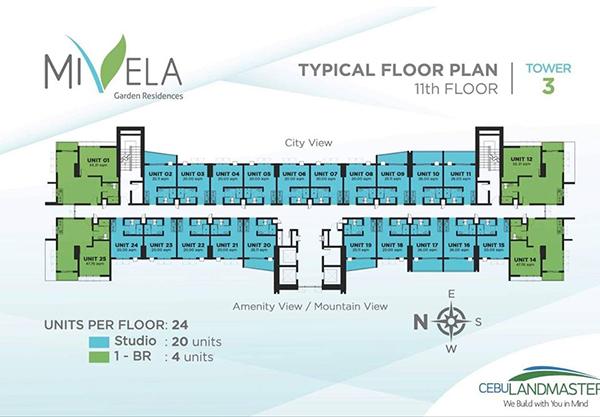 typical floor plan in the 11th floor