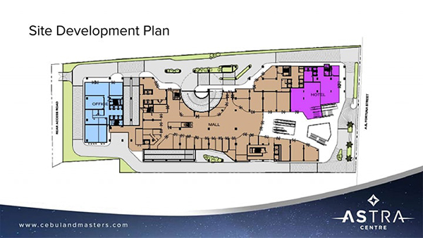 site development plan of one astra place