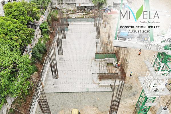 latest construction update of mivela garden residences