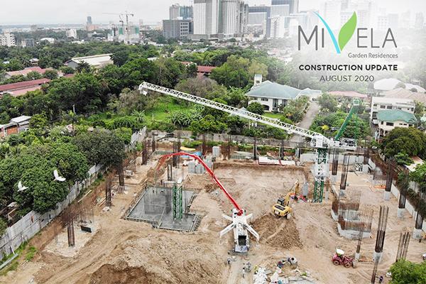 construction update of mivela garden residences