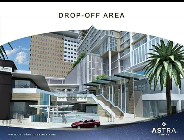 drop-off area of the residential condominium project