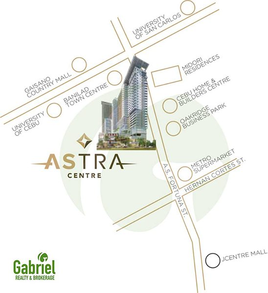 the location of one astra place centre