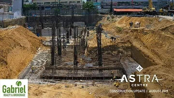 on going land development of astra centre mandaue