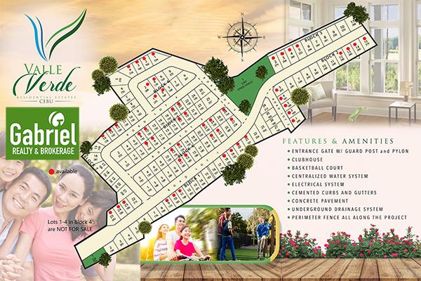 site development plan / lot plan of valle verde