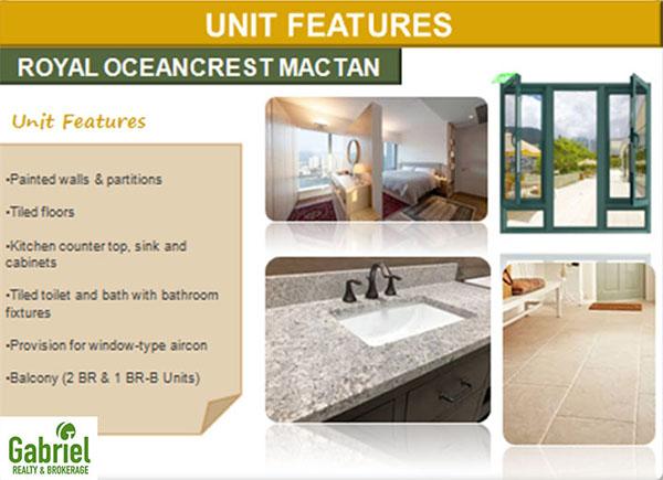 unit features in royal oceancrest mactan