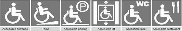 barrier-free logo or persons with disabilities logo