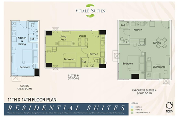 the typical residential suites floor plans
