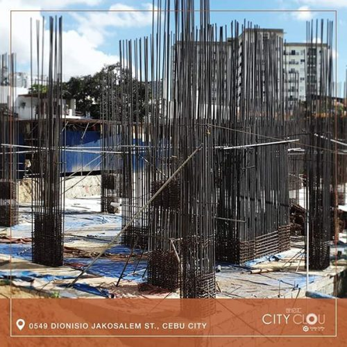 latest construction development of city clou condominium