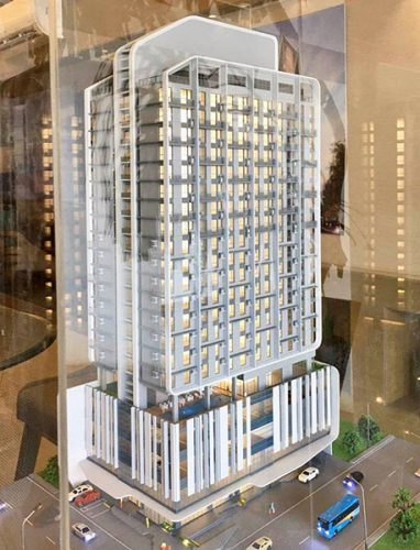 the scale model of the condominium project