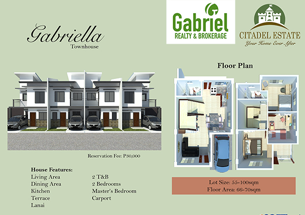 townhouse floor plan, citadel liloan