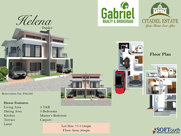 duplex floor plan, citadel liloan