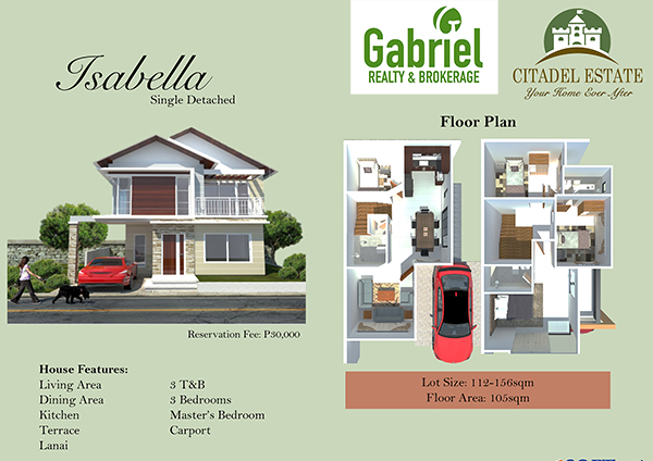 single detached floor plan, citadel liloan