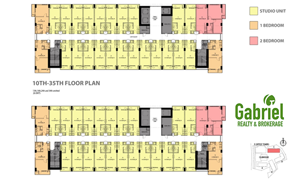 typical floor plans of the condominium project