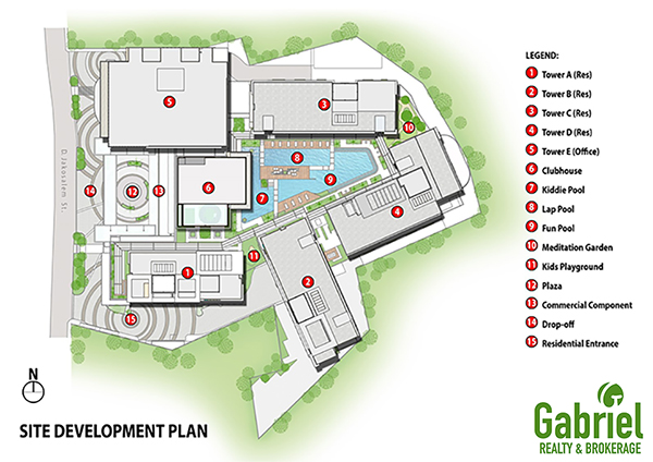 site development plan of city clou condominium