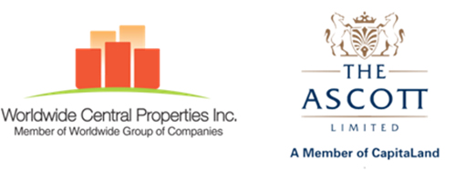 worldwide central properties inc logo as well as the ascott limited logo