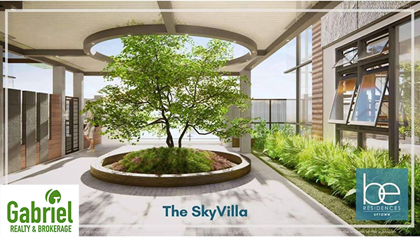 the sky villas beside the resort-style amenities