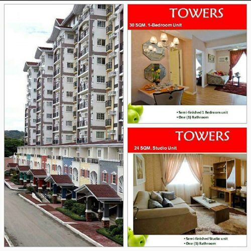 the towers, condominium units in apple one banawa