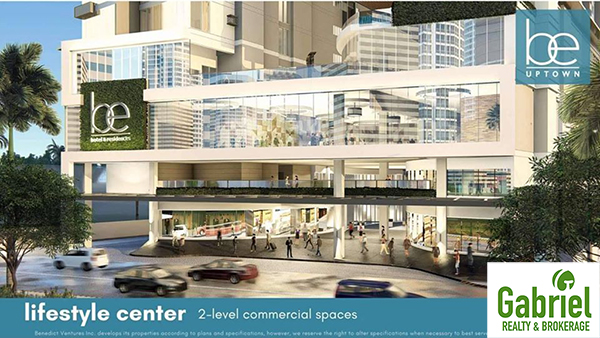 lifestyle center with 2-level commercial spaces